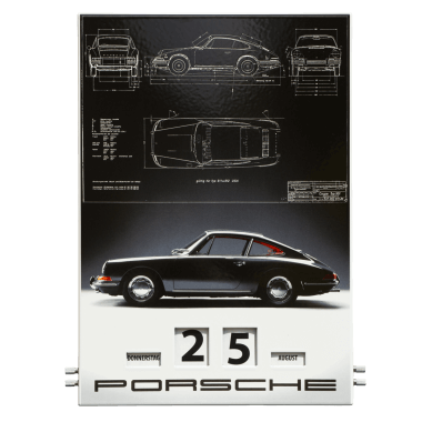 Rotary Porsche 2013 calendar made of porcelain enamel, 300 mm x 430 mm, limited edition, numbered