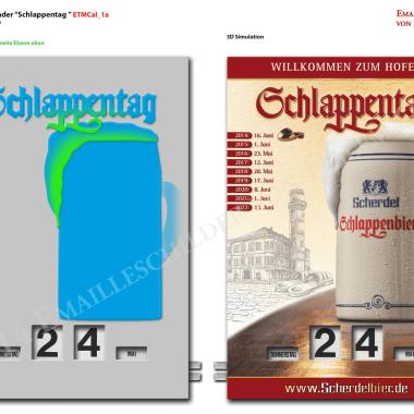 Rotary Schlappentag calendar, preview