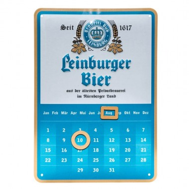 Leinberger Bier calender, in A6 format (the same size as a postcard), with stand