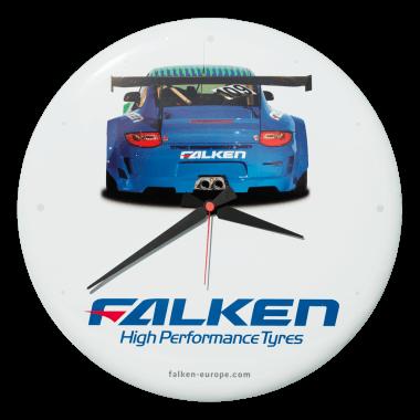 Falken Tyres clock, diameter 40 cm, only crowned, not embossed
