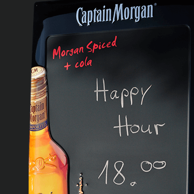 Promotional metal chalkboards for pups, bars and restaurants