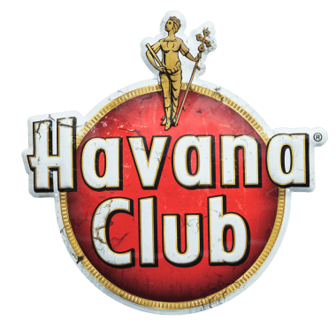 Extra thick Havana Club aluminium sign made of 2 mm thick aluminium; for outdoor use