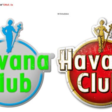Havana Club aluminium sign, preview