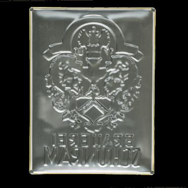 Schönram aluminium sign, back