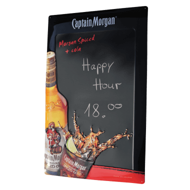 Captain Morgan chalkboard, 40 cm x 60 cm, embossed