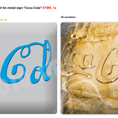 Coca Cola tin metal signs preview of sign 3