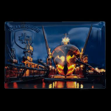 Wellensteyn Schiff tin metal sign, 40 cm x 60 cm