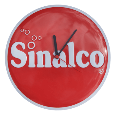 Embossed Sinalco clock