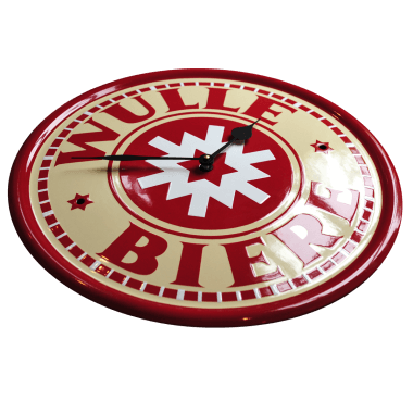 Wulle clock made of porcelain enamel; here you can see a beautiful example of the classic-style stencilling