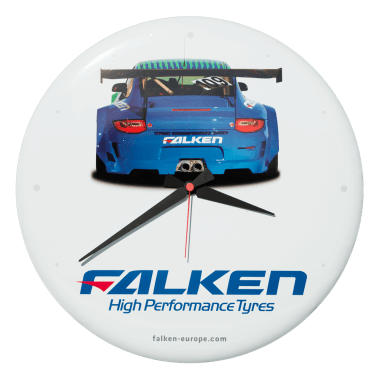 Falken Tyres clock, diameter 40 cm, only crowned, not embossed