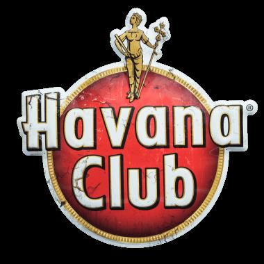 Extra thick Havana Club aluminium sign made of 2 mm thick aluminium; for outdoor use
