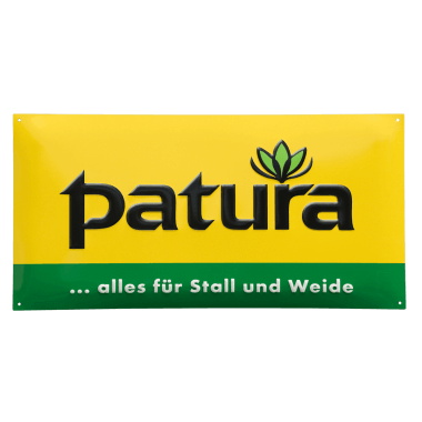 Patura aluminium sign, 1mm thick, used for the purpose of marking the agriculture business of one of our customers