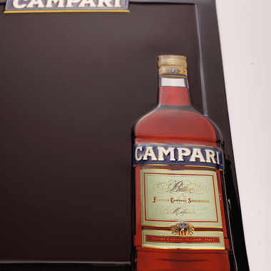Campari chalkboard, detailed view