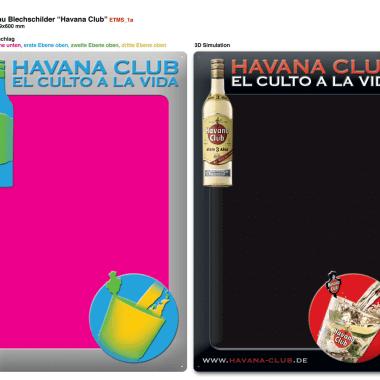 Havana Club chalkboard