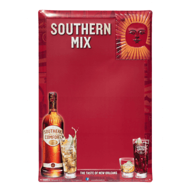 Southern Comfort chalkboard featuring red chalkboard coating, 40 cm x 60 cm