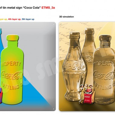 Coca Cola series of tin metal signs, preview of sign 1