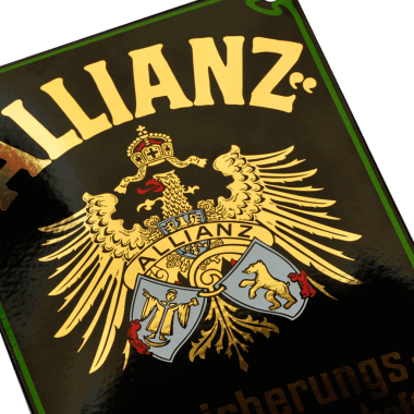 Porcelain-enamel-sign-Allianz-1-a_good_example_of_the_effect_of_real_gold_on_porcelain_enamel