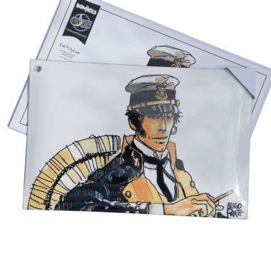 Corto Maltese, porcelain enamel sign, 300 mm x 200 mm, limited and individually numbered edition