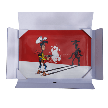 Lucky Luke, porcelain enamel sign, 200 mm x 200 mm, limited and individually numbered edition