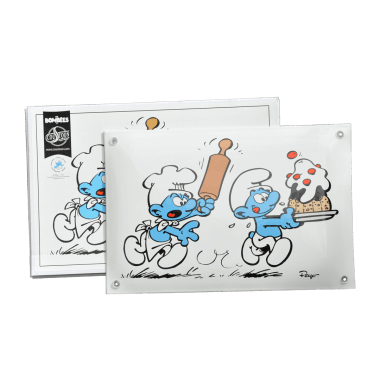 The Smurfs porcelain enamel sign 300 mm x 200 mm , limited and numbered