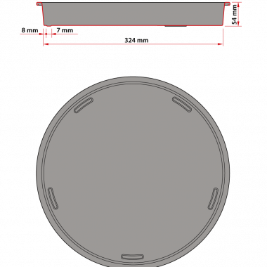 Tray-technical-drawing
